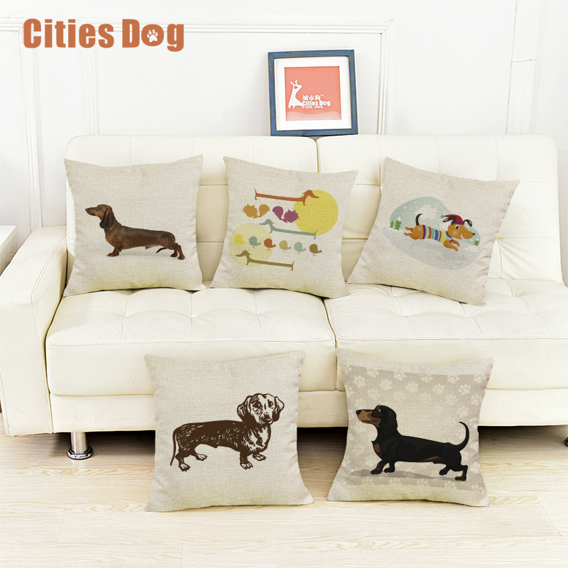 Back To Search Resultshome & Garden Sensible Dog Dachshund Decorative Cushion Cover Pillows Cojines Coussin Para El Hogar Decoracion Linen Animal Throw Car Pillow Almofada Quell Summer Thirst