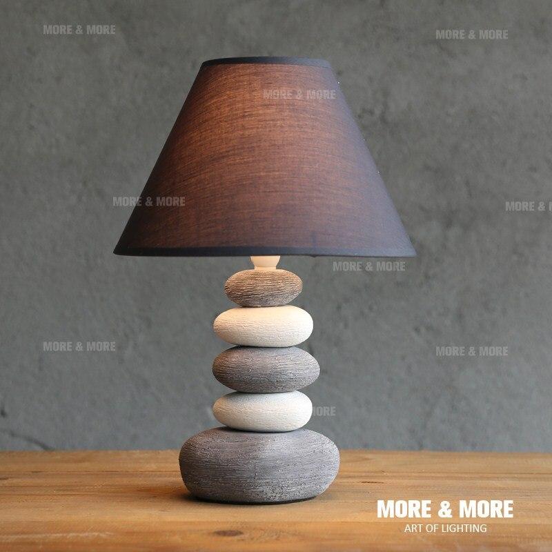 Керамическая Настольная лампа спальня прикроватные творческий простой современная мода прекрасный теплый свет ночники настольные лампы ...