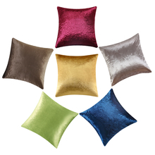 Luxurious Velvet Shinny Yellow Gold Goldern Cushion Sofa Home Decor Silver Grey Green Coffee Cushion Pillow Wholesale 45cm*45cm(China)