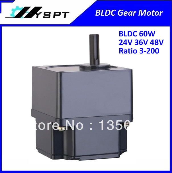NO.BL6030 cheap price  DC brushless gear motor 60W 24V final speed 100rpm without controller