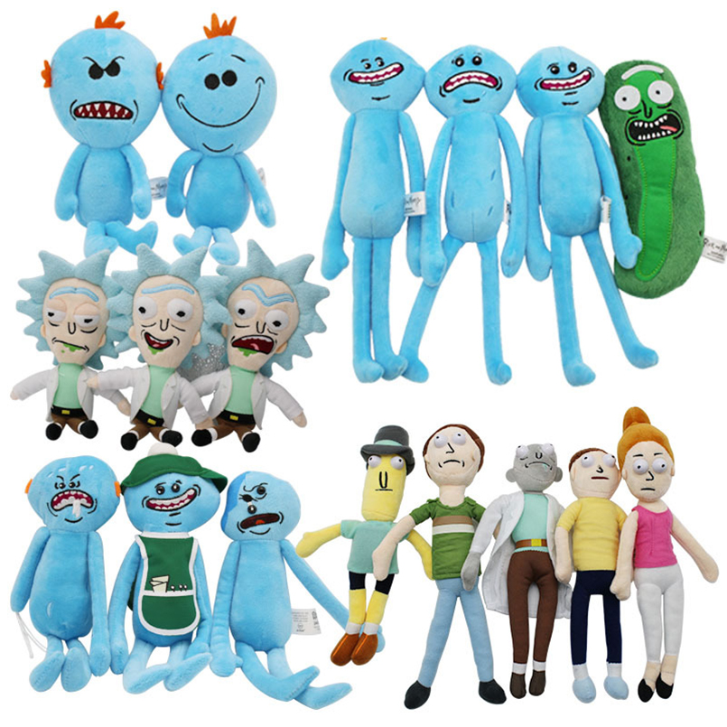 16 Styles TV Rick And Morty Plush Toys Stuffed Soft Toys Cute Anime Doll Rick Morty Pillow Children Girls Kids Boy Birthday Gift гирлянда neon night мишура светодиодная 288 led цвет прозрачный синий 3 м