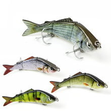 Mmlong Fishing Baits Artificial 4 Segment Lifelike Crankbait Slow Sink 8# Hook swimbait Attractive Hard Lure MML03b