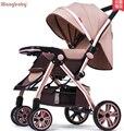 Alta paisagem carrinho de criança pode sentar mentira leve portátil dobrável carrinho de bebê