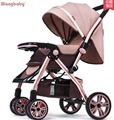 High landscape stroller can sit lie lightweight portable folding baby stroller