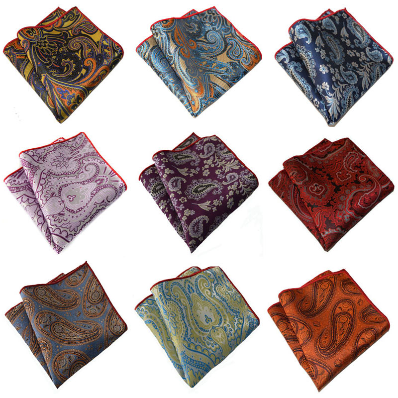 Men Stylish Paisley Jacquard Floral Hanky Pocket Square Wedding Handkerchief New BWTYX0133