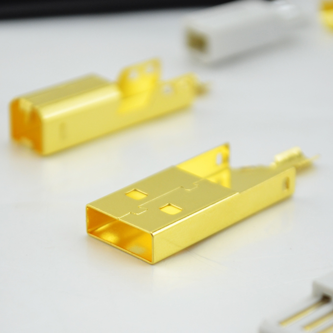 set  Gold Plated USB A+USB B Type A-B Plug For DIY USB Cable Taiwan Made free shipping nordost odin interconnect usb cable with a to b plated gold connection usb audio digital cable