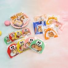 100pcs Baking Bag Bow Transparent Cookie Bag Ziplock Cookie Bag Environmental Health Food Bag