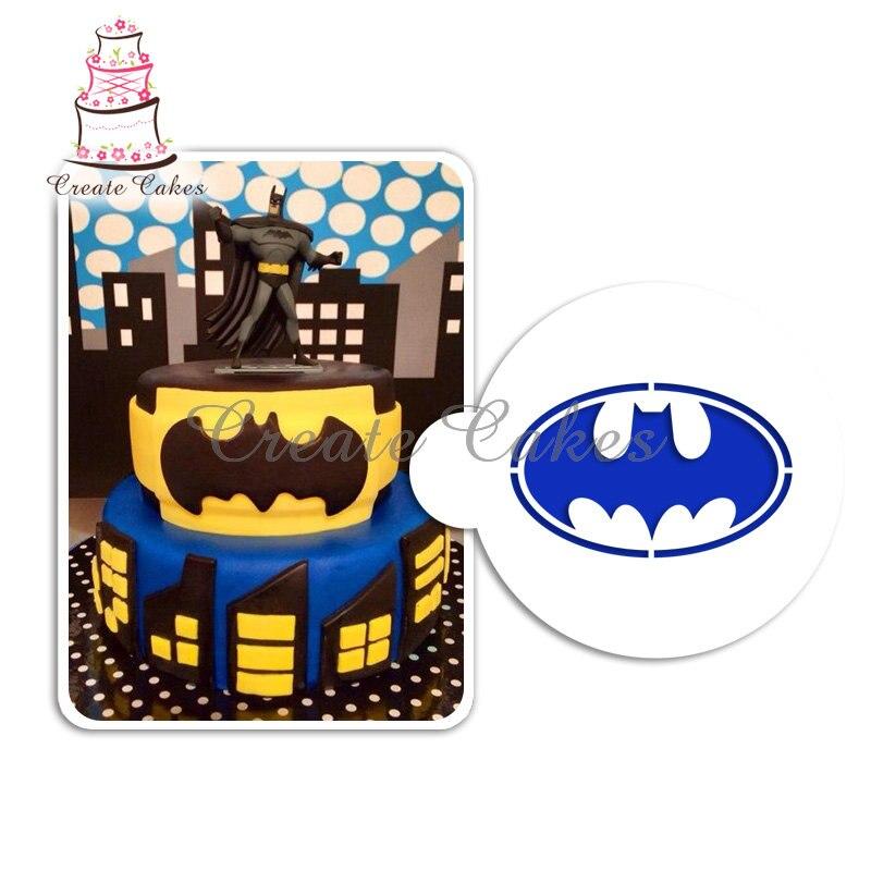 aliexpress com buy batman symbol stencil cake art stencils