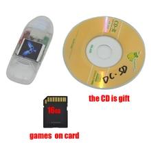 xunbeifang 밴드 용 Sega DC 인디케이터 램프가있는 SD 카드 리더 어댑터 변환기 무료 16GB SD 카드가있는 DreamCast 게임용