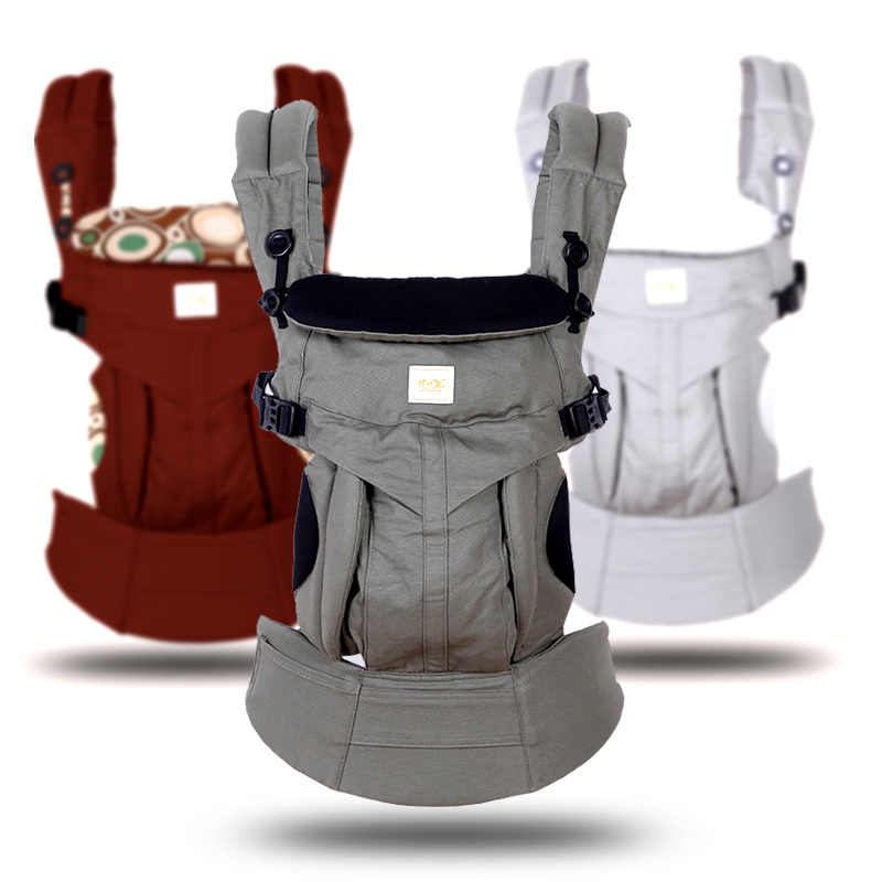 omini Ergonomic 360 Baby Carriers Backpacks0 36 months Portable Baby Sling Wrap Cotton Infant Newborn Baby