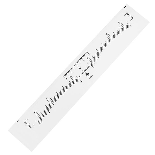 100pcs Microblading Disposable Accurate Ruler Permanent Makeup Tebori Eyebrow Shaping Tools Tattoo Measurement Rulers Sticker 2