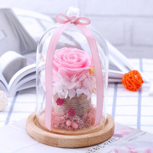 Preserved Roses Flower In Glass, Romantic Gift For That Special Person