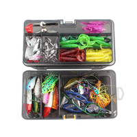 Set Mixed 111pcs/lot Fishing Lures Frog bait and Squid Lure Quality Lifelike Fishing Tackle Wholesal
