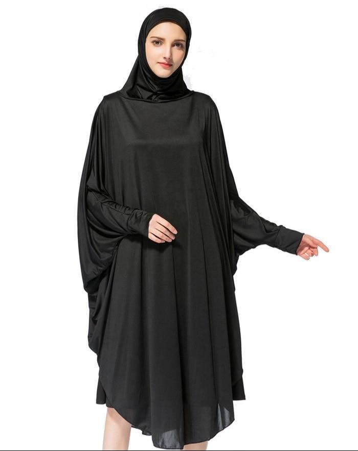 Prayer Garment Long Prayer Clothing 3 Colors Abayas for Women Namaz Islamic Muslim Dress with Hijab