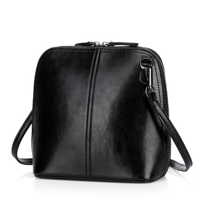 2018 New Fashion Women's Genuine Leather Shoulder Bags Vintage Women Shell Messenger Bag Designer Brand Small Crossbody Bag 2017 new brand designer women small messenger bag pu leather solid color shoulder bag fashion vintage girls evening party bag