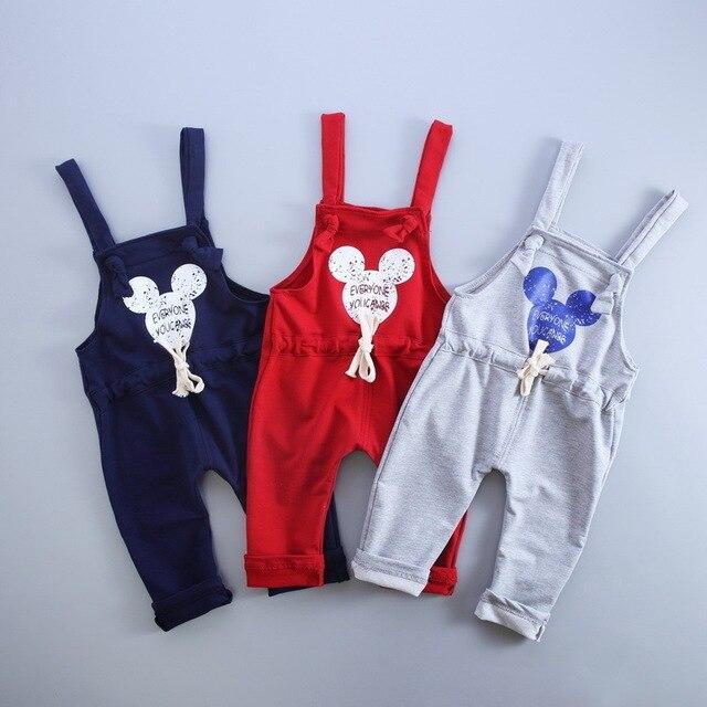 2017 Spring  Autumn Brand Cotton  Cartoon Pattern Children Boys Girls  Fashion  Leisure Camisole Pants 0-4 Years