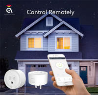 4pcs Smart Power Socket Wifi Wireless Mini Switch Remote Control Timer Outlet US Plug AWP02L N