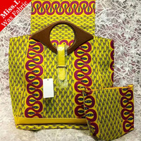 Miss.L Popular High Quality African Wax Bag Set With 6 Yards Real Hollandais Wax Fabric Ankara Wax Print For Women Sewing
