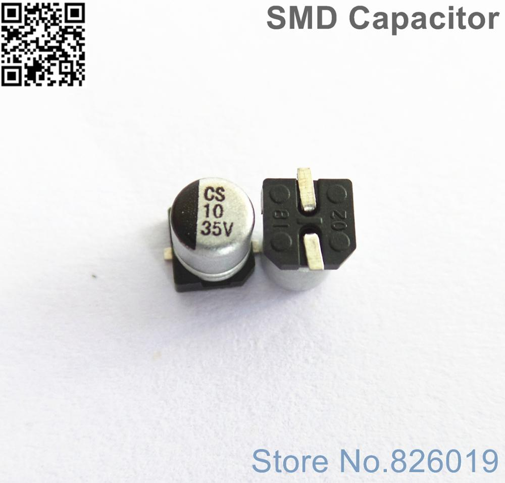 12pcs/lot 35v 10uf SMD Aluminum Electrolytic Capacitors Size 4*5.4 10uf 35v