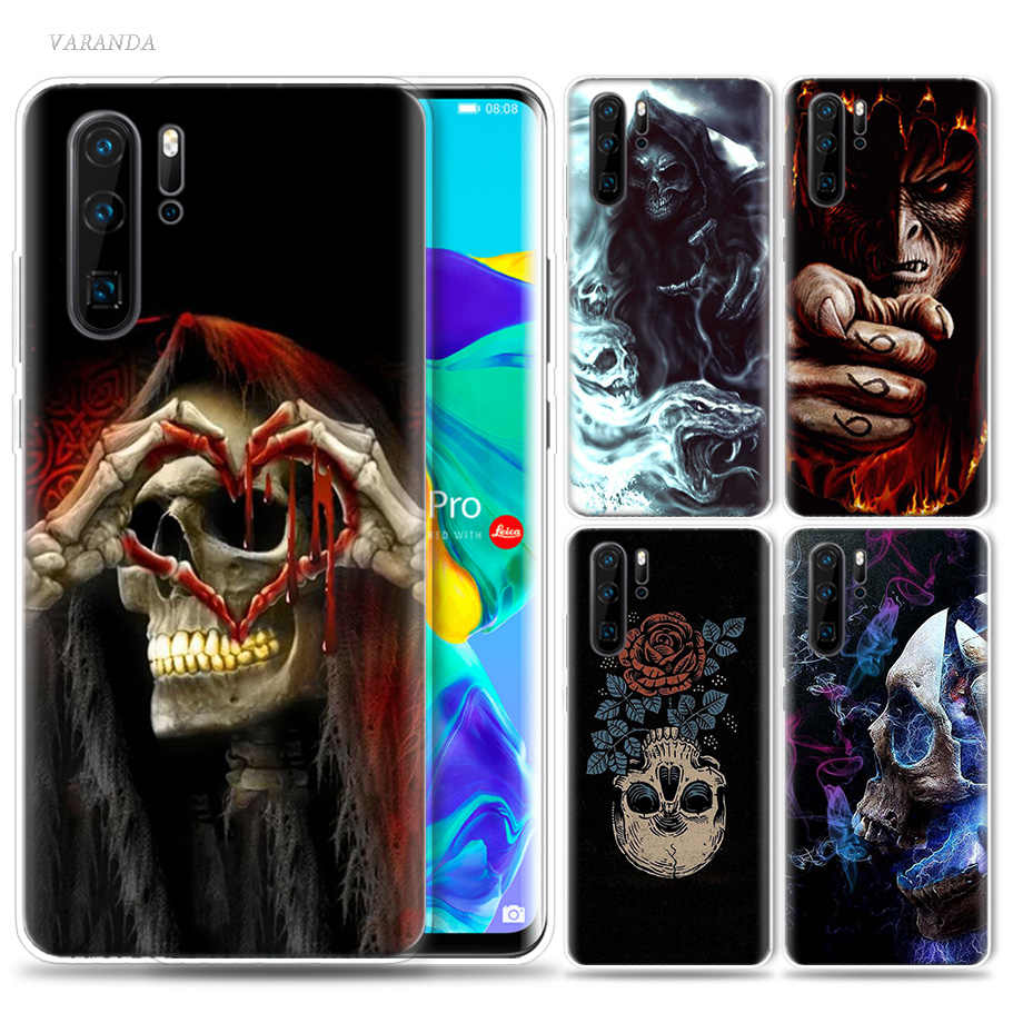 Devil You Next Case for Huawei P20 P30 P Smart Z Plus 2019 P10 P9 P8 Mate 10 20 lite Pro Silicone Skull Phone Bags Fundas Capa
