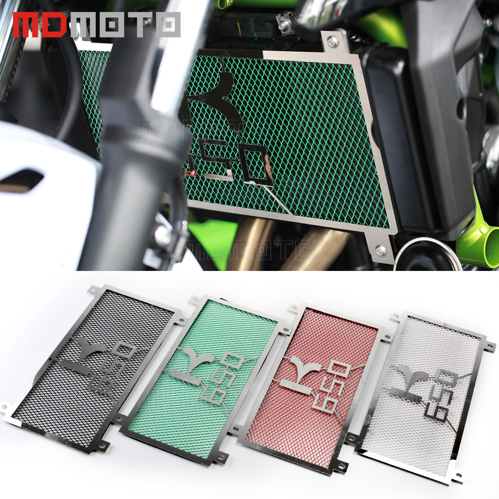 Motorcycle accessories Engine Radiator Bezel Grille Guard Cover Protector Grill For KAWASAKI Z650 Z 650 2017 radiator cover arashi motorcycle radiator grille protective cover grill guard protector for 2008 2009 2010 2011 honda cbr1000rr cbr 1000 rr