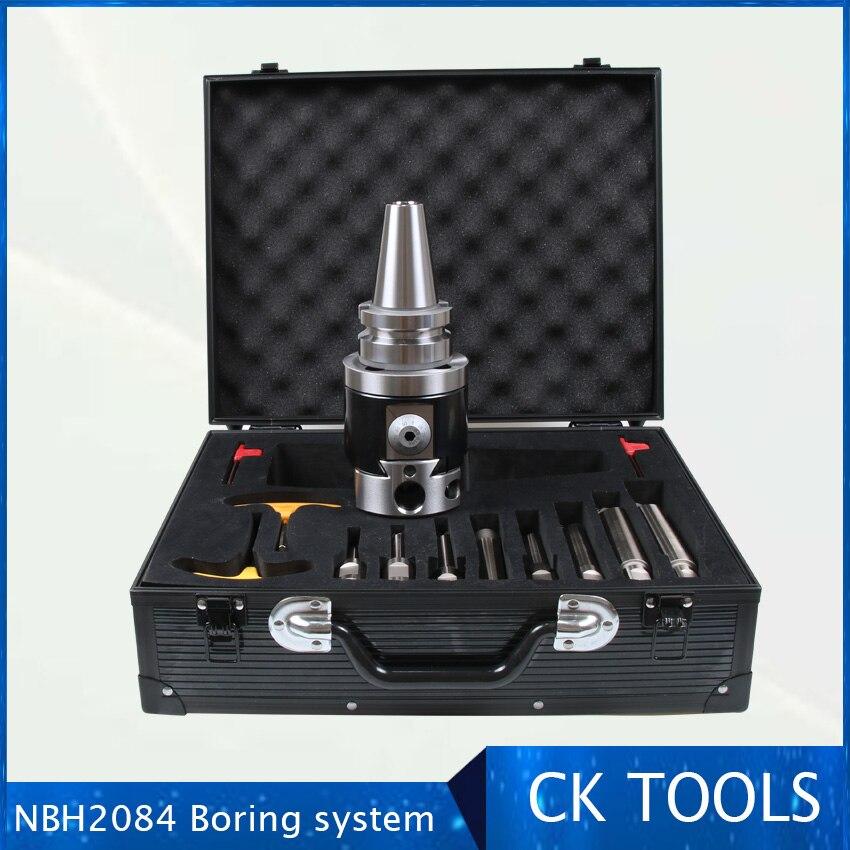 Quality Precision BT50  NBH2084 8-280mm Boring Head System  Holder +8pcs 20mm Boring Bar Boring Rang 8-280mm Boring Tool Set