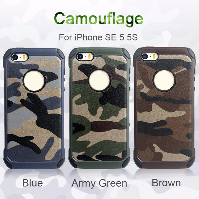 hot sale online 509bd 77ac1 US $2.84 10% OFF|Fashion Cool Camouflage Rubber Case For Apple iPhone 5 5s  Back Cover For iphone 5C SE Phone Cover capas -in Half-wrapped Case from ...