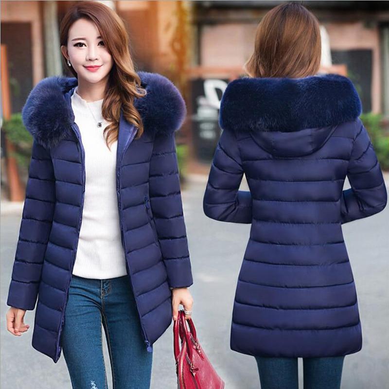 wholesale dealer eaba4 2eb39 US $27.62 35% OFF|TIGENA Plus Size 4XL Long Winter Jacket Coat Women Parka  2018 Fur Collar Hooded Thick Warm Winter Jacket Coat Female Parka Femme-in  ...