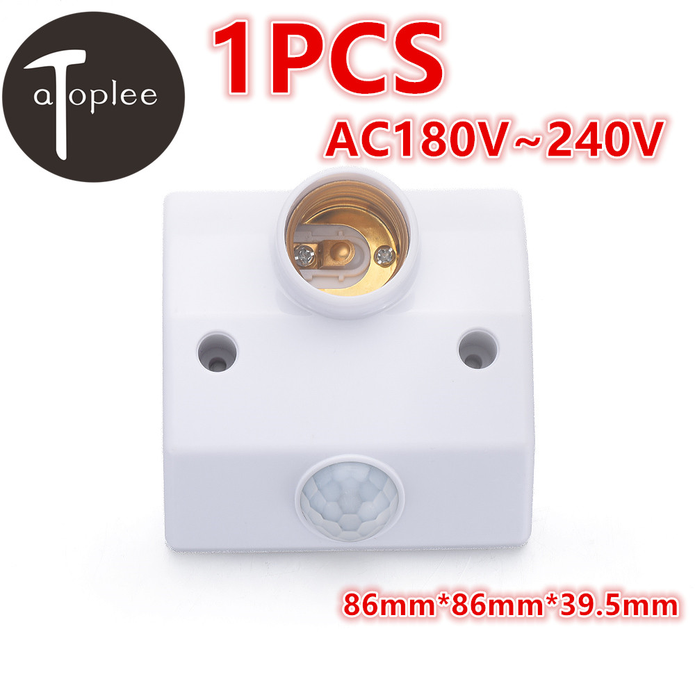 Universal 1PCS E27 AC180V 240V Led Light Base Infrared IR Motion Sensor Automatic Lighting Control Switch