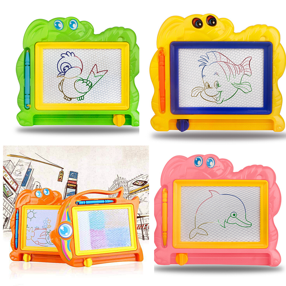 2017 NEW Children Writing Doodle Stencil Painting Magnetic Drawing Board Set Learning & Education Toys Hobbies for Kids 1PCS