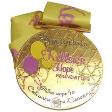 cheap custom Brass Material Gold Amusement Parks Souvenir Medal