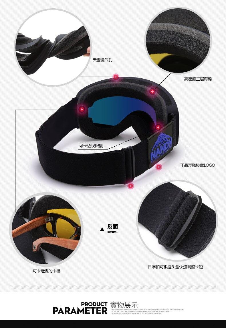 Φ_ΦNandn niños de esquí y snowboard duikbril gafas de doble capa ...
