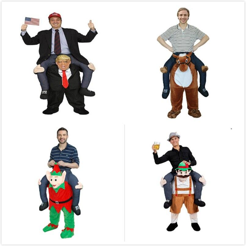 Drôle Cosplay Donald trump Pantalon Halloween costumes de fête Balade à Cheval Sur Vêtements Portent Retour Nouveauté Mascotte Jouets de Plein Air - 4