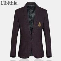 Mens Casual Dress Blazer Slim Fit Men Cotton Blazer One Button Male Suits Jacket Plus Size