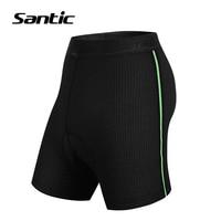 Santic Ciclismo Shorts Men Anti-suor MTB Bicicleta Shorts 4D Coolmax Acolchoados Bermuda de Ciclismo Sob O Desgaste Da Bicicleta Da Estrada Ciclismo
