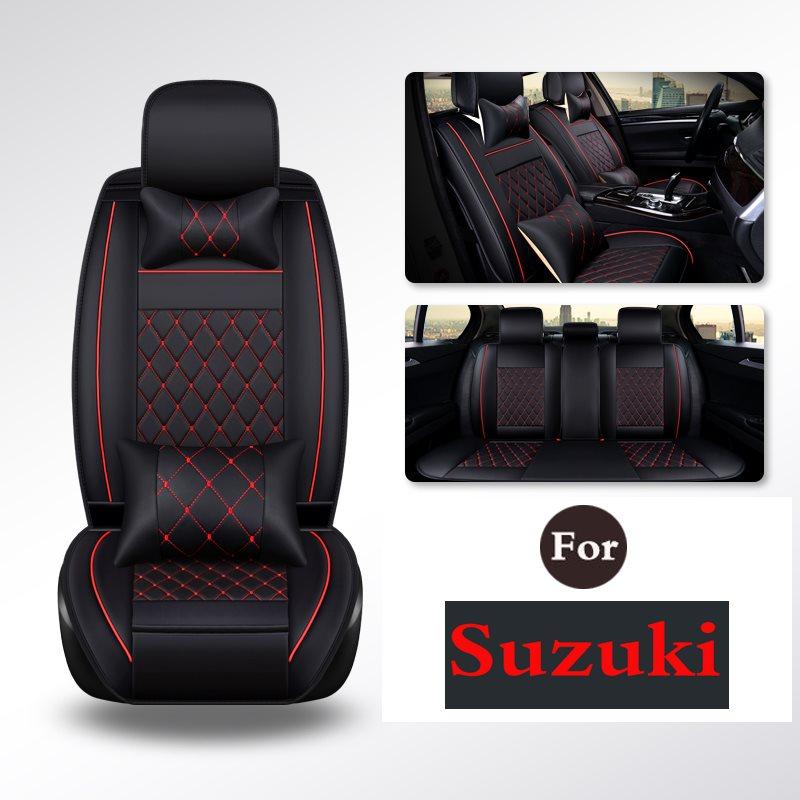 Tear Pu Easy To Clean Pu Leather Car Seat Cushions Seats Full Set - Anti-Slip Covers For Suzuki Sx4 Swift A6 Splash Grand Vitara лампа king page autumn a6 sx4 led