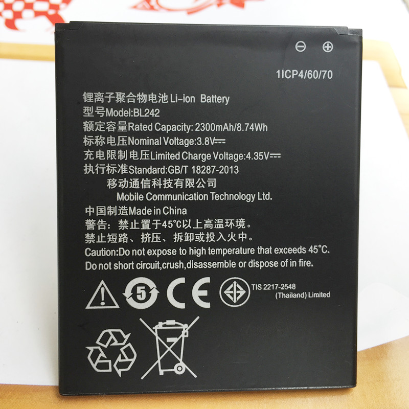 Battery For Lenovo A6000 LeMeng K3 K30-T K30-W lenovo K3 A3860 A3580 A3900 K30-E Mobile Phone Parts BL242 BL-242 New