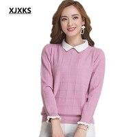 Woman Sweater 2016 Spring Long Sleeve Sweater Large Size Lady Clothing Fashion Basic Pull Femme Cashmere