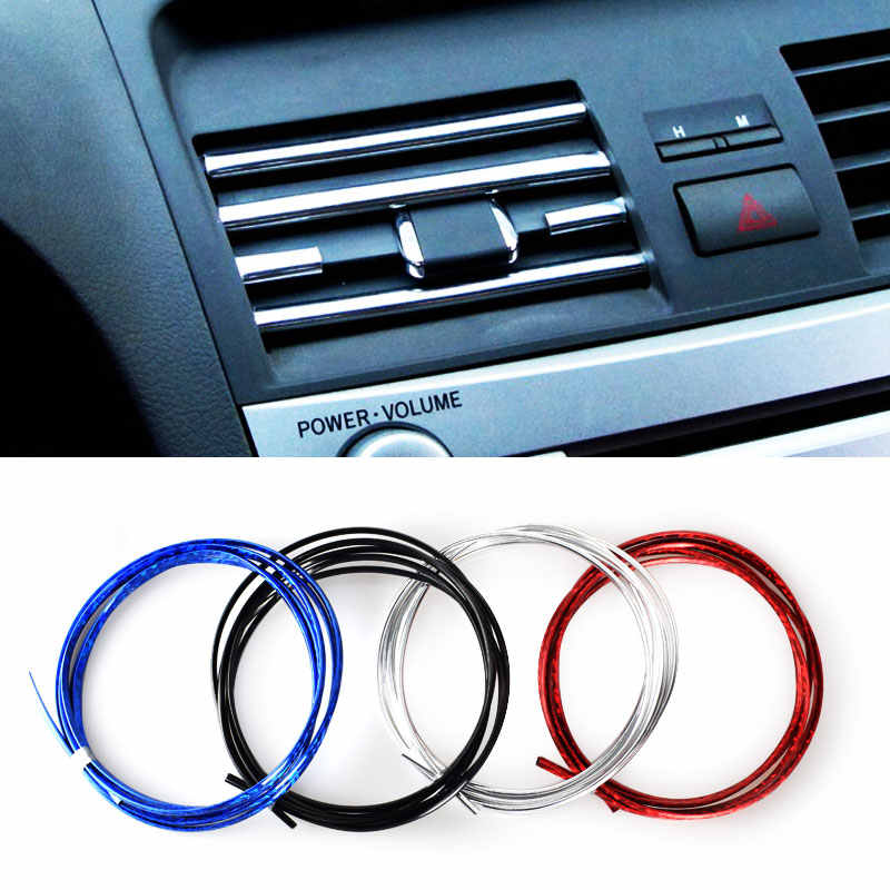1Metres Auto DIY Car-Styling U Style Decoration Strip Grille Chrome Sticker Case For Skoda VW R Ford Mazda Jeep Lada Car Styling