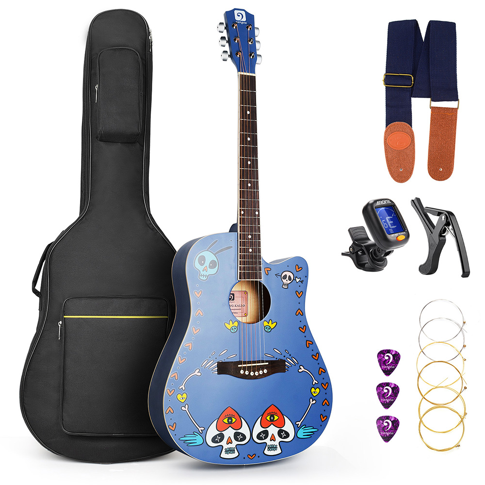 Acoustic Custom Guitar 41 Inch Full Size 6 String Basswood with Guitar Kit From US hp c4844ae 10 black струйный картридж
