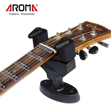 Aroma Guitar Stand Wall Hanger Holder Stand Rack Hook AH-81 Black Color For All Size