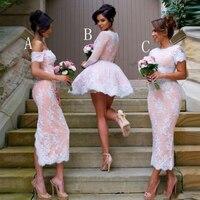 vestidos dama de honor Elegant Bridesmaid Gowns 3 Styles Long Bridesmaid Dresses Casamento Appliques Wedding Guest Dress