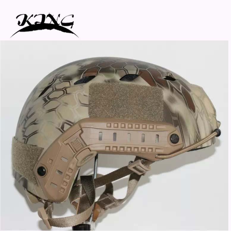NVG PVS-14 Helmet Tactical FAST BJ Pythons stripes camouflage helmet military airsoft helmet w/NVG  Base Jump Helmet ilve 600 nvg ant c