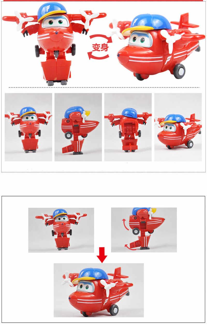 4 шт./компл. Супер Крылья мини самолеты деформации самолет фигурки и игрушки Трансформация Робот Игрушки для рождественских подарков