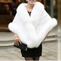 2016 White Black Wedding Jackets Nupcial Do Casamento Shrug Faux Fur Estolas Xale Borgonha Nupcial Fur Envoltório Casaco Bolero Do Casamento Do Inverno