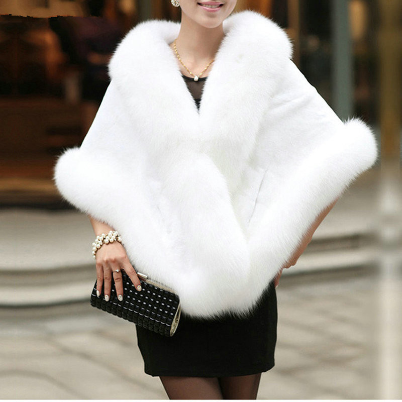 2016 blanc noir faux toles de fourrure de mariage vestes de marie mariage shrug chle bourgogne - Tole Blanche Mariage