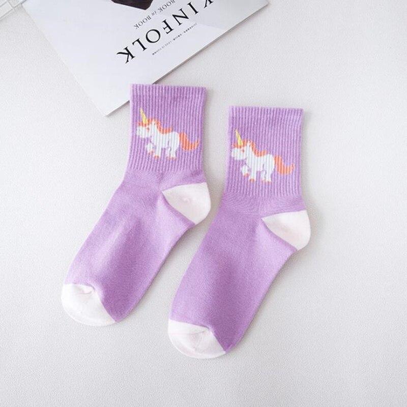 NEW Autumn Winter Socks Women Cotton Unicorn Socks Funny Cartoon Socks Printed Kawaii unicorn pattern Art Animals Socks sox in Socks from Underwear Sleepwears
