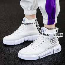 Man Sneaker For Men Brand Outdoor High Top Shoes Elasticity autumn Walk Casual Male 2019 new big size 39-45