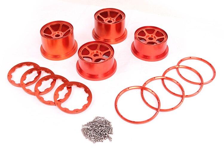 CNC Baja 5B ensemble de moyeu de roue en alliage pour 1/5 HPI Baja 5B pièces Rovan KM 2 moyeu de roue arrière et 2 fronts