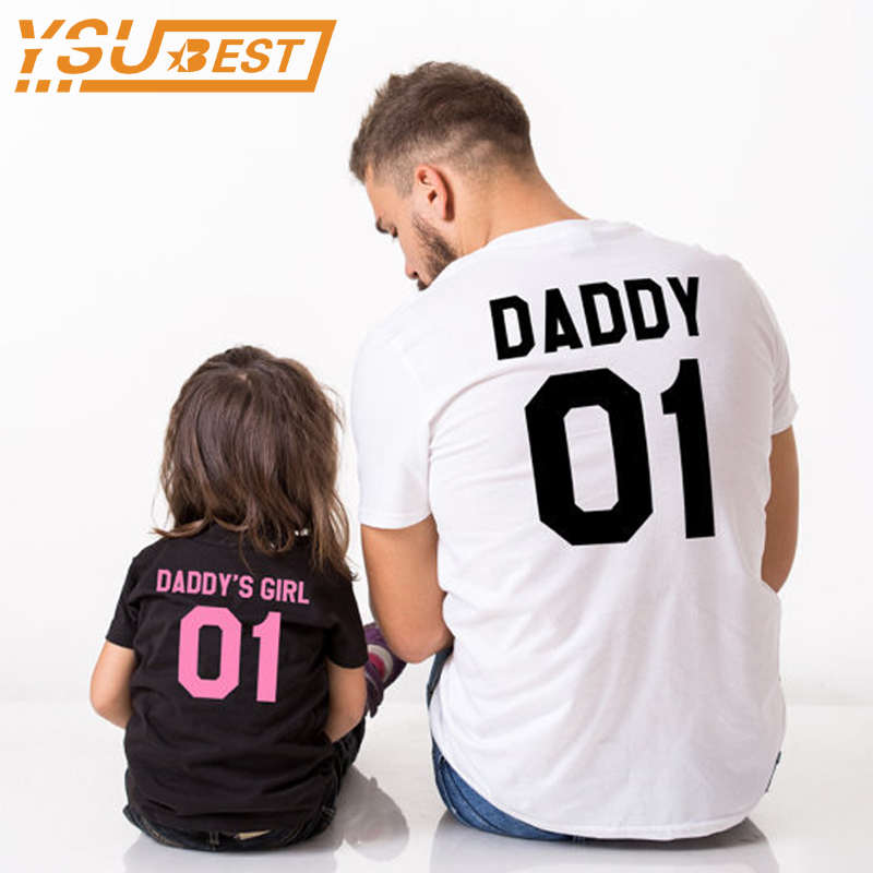 New 2017 Household Matching Outfits Household Look Daddy & Daddy's Woman Sample Household T Shirts Outerwear Father Daughter Garments